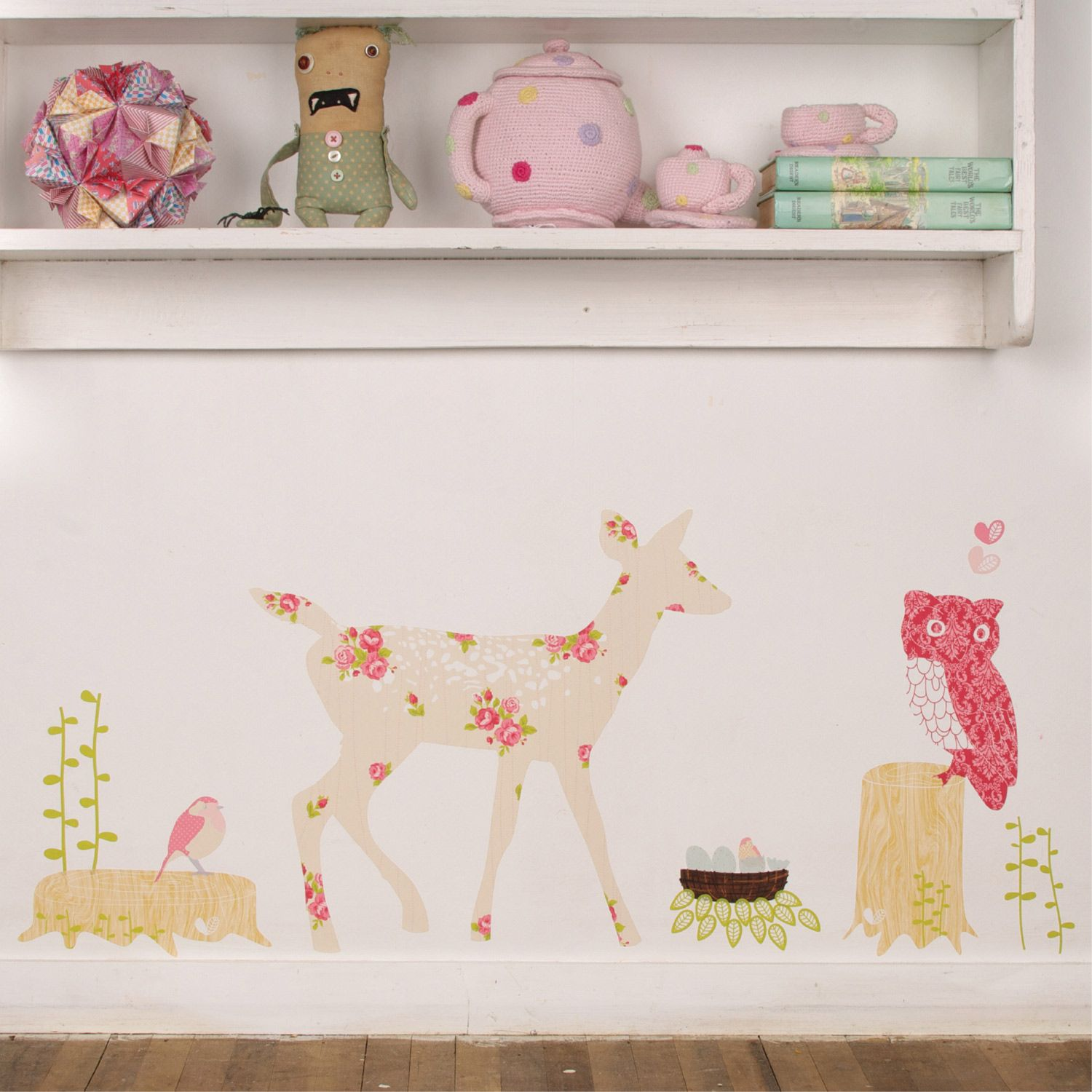 Oh deer girly fabric wall decals baby pinterest more wall