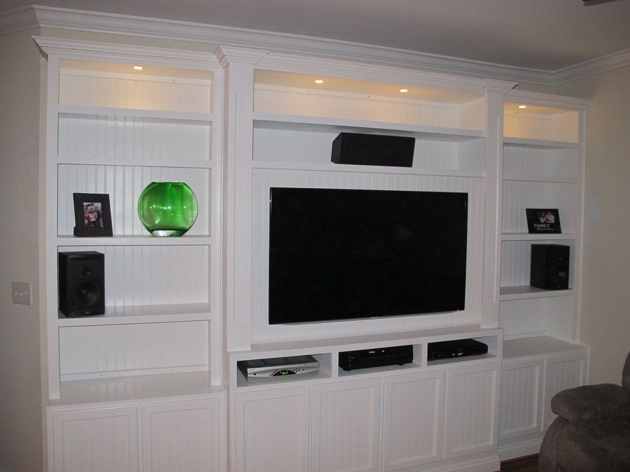 Entertainment Center Build Outs Builtin Entertainment Center - Built in media center designs