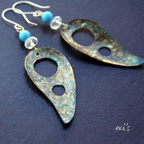 Handcrafted Eco Friendly Patina Natural by EVIsMetalworkJewelry, €24.00