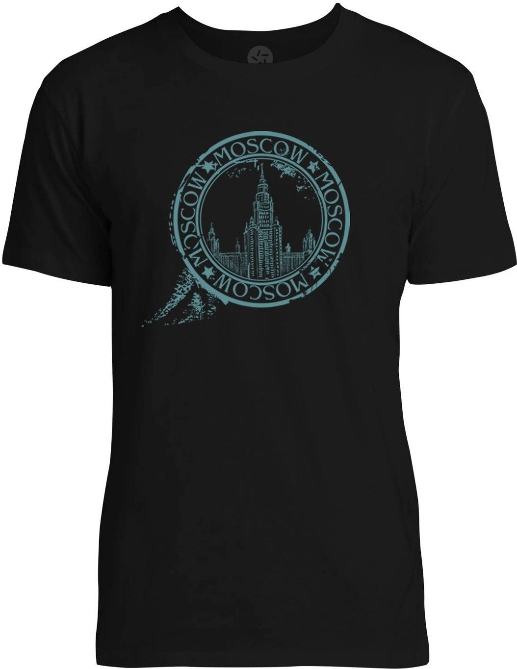 Stamp of Moscow (Blue) Mens Fine Jersey T-Shirt