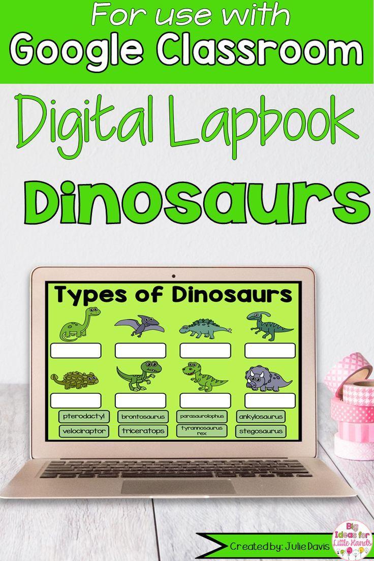Dinosaur Activities for Google Classroom for First Grade