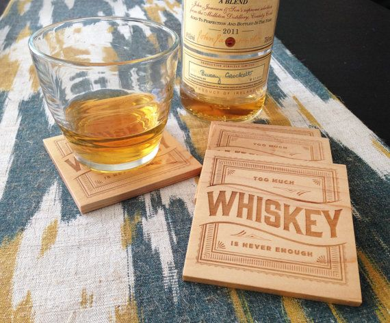 projects design unique coasters. WHISKEY Wood Coasters Laser Engraved by GRAINHAUS on Etsy  25 00