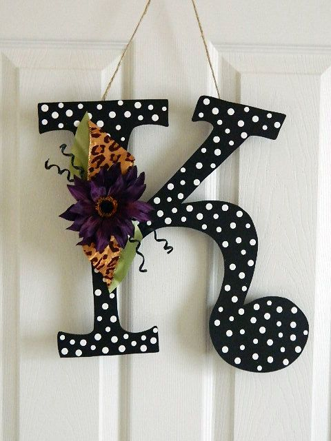 Wooden letters for door decorations wall letters for Letter f decoration