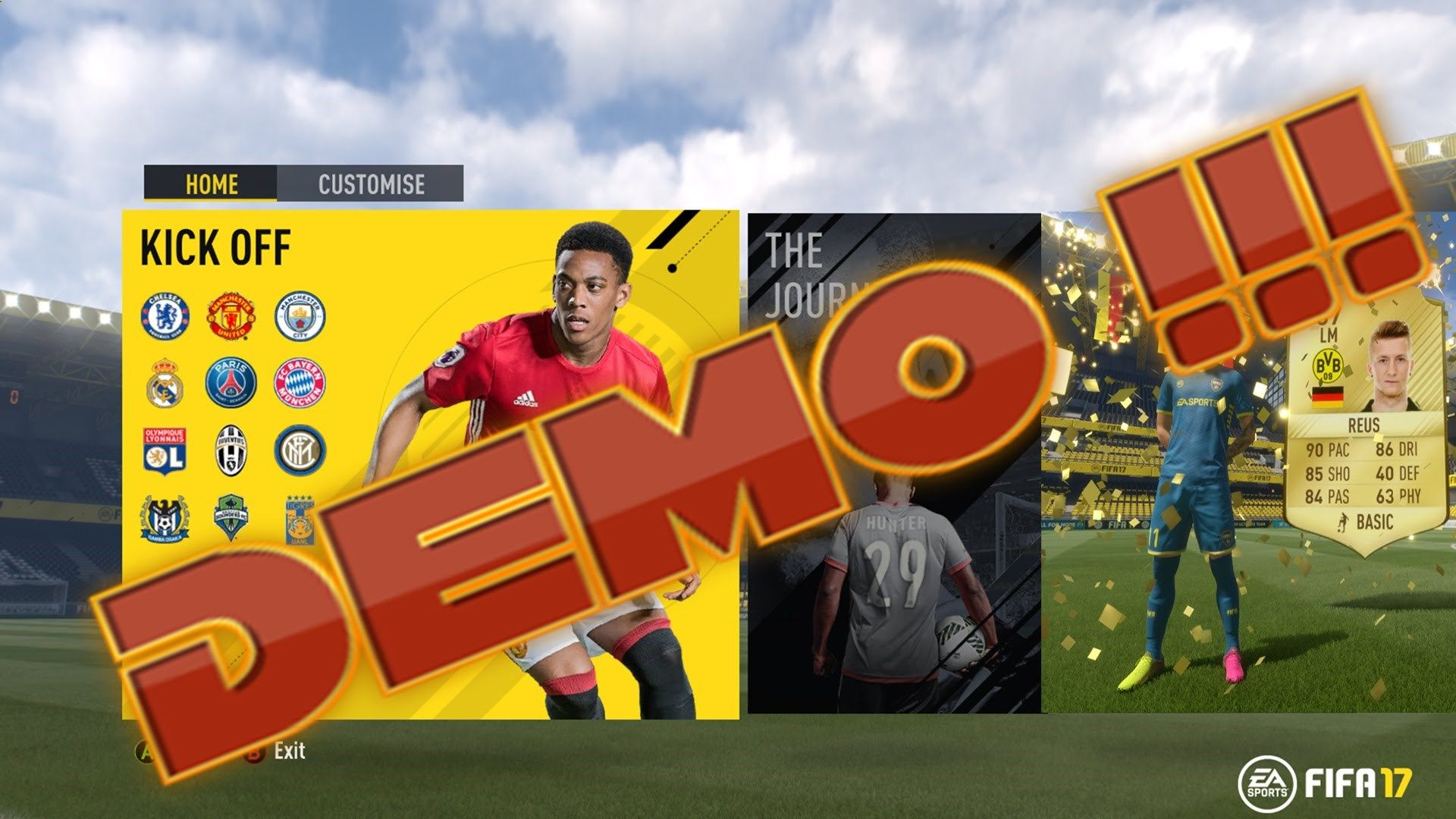 FIFA 17 Demo - The Journey Full DEMO Gameplay ------------------------------------------------------------------------------------------- FIFA 17 Demo - The Journey Full DEMO Gameplay MANU vs CHELSEA www.google.com The wait is over. Yes it is FIFA 17 DEMO. FIFA 17 DEMO has been released on 13th September 2016 and it is already a blast. The all new features in FIFA 17 has been great. www.google.com There are 12 teams is FIFA 17 DEMO and a single match from FIFA 17 DEMO The Journey where...