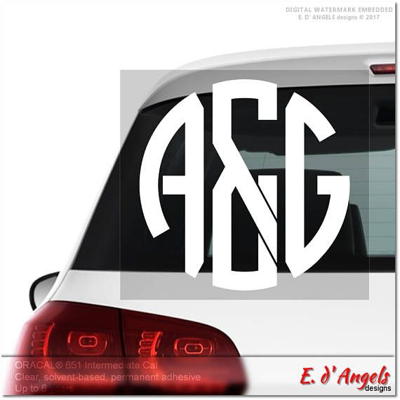 Monogram car decal car decal decal for cars car decal monogram car decal for women custom car decal car decal for men stickers