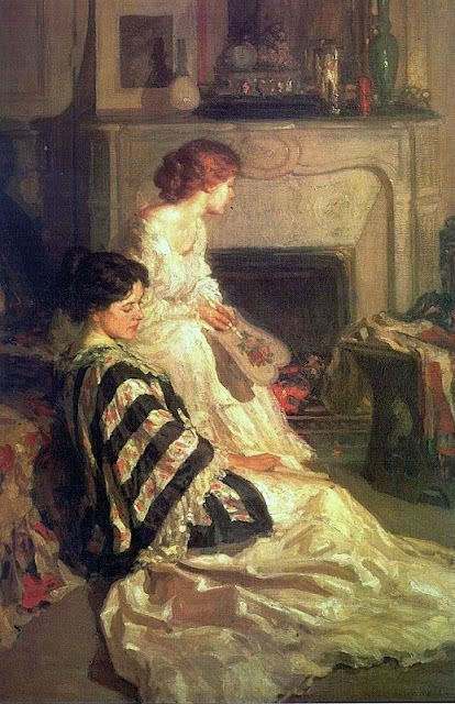 By the Fireside by Henry Salem Hubbell, 1909