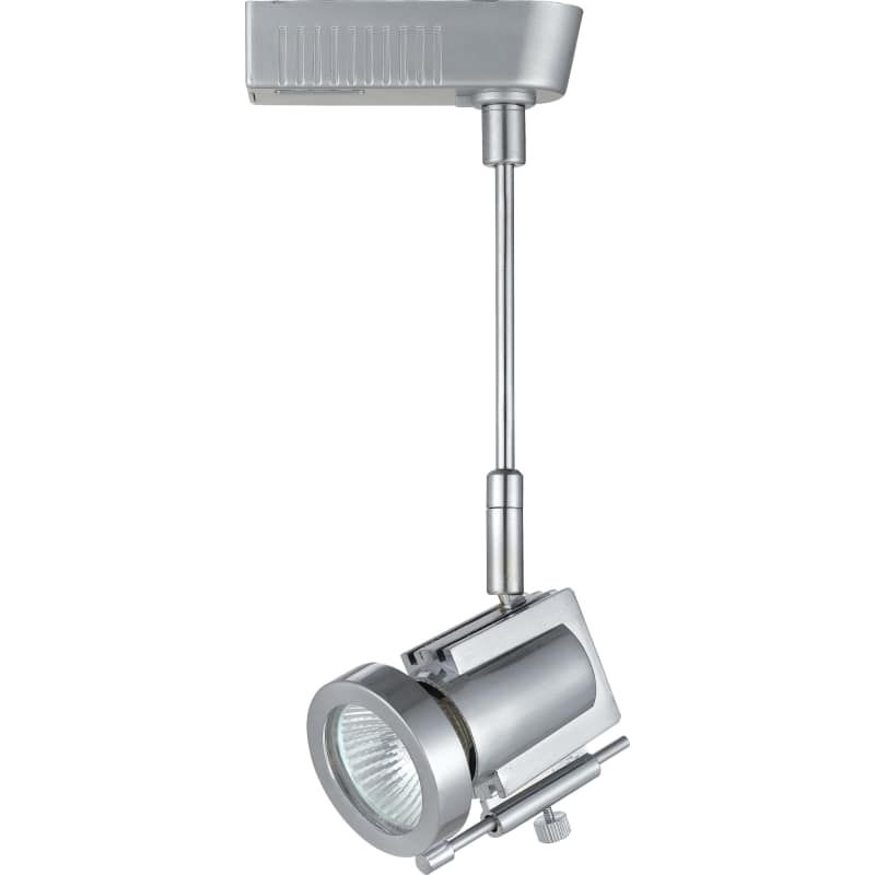 Cal Lighting HT-967-BS Brushed Steel Contemporary/ Modern 1 Light Extending Low Voltage Track Head for HT Track Systems