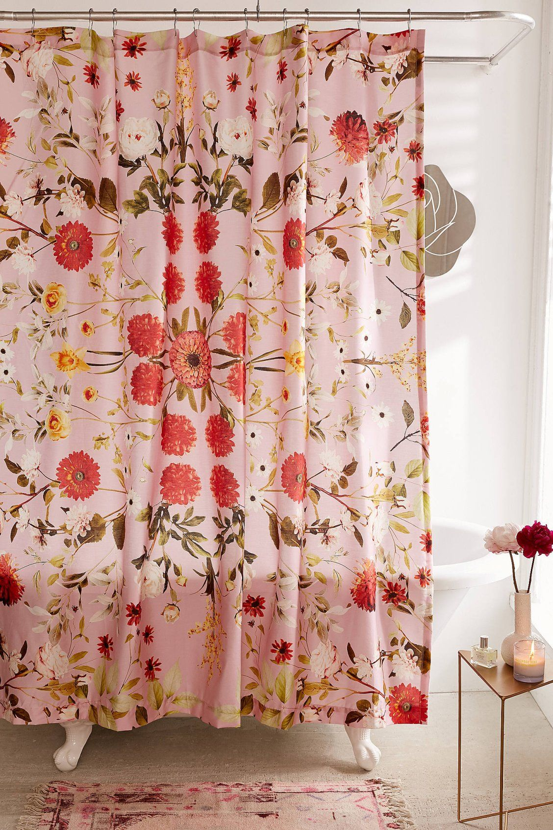 Shower Curtain Liner Floral Shower Curtains Vintage Home Decor