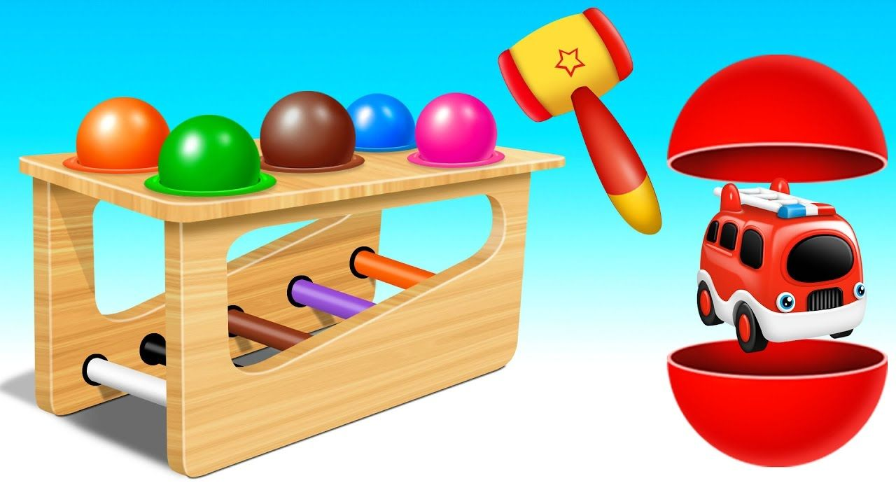 Toys images with names  Learn Colors u Street Vehicles Names and Sounds for Kids with Wooden