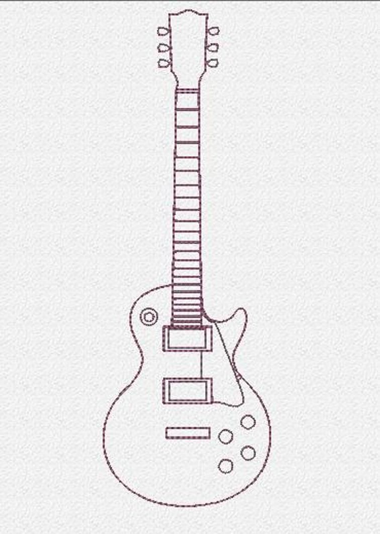 Electric Guitar Embroidery Design Craftsy Quilts