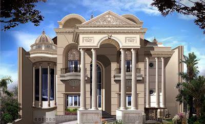 desain rumah mewah gaya mediterania - konsep rumah modern