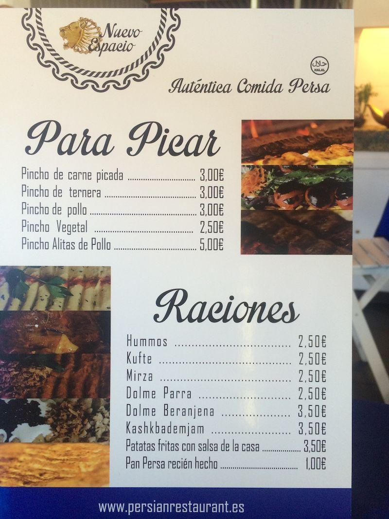 Restaurante persa Nuevo espacio carta | Top restaurantes | Pinterest ...