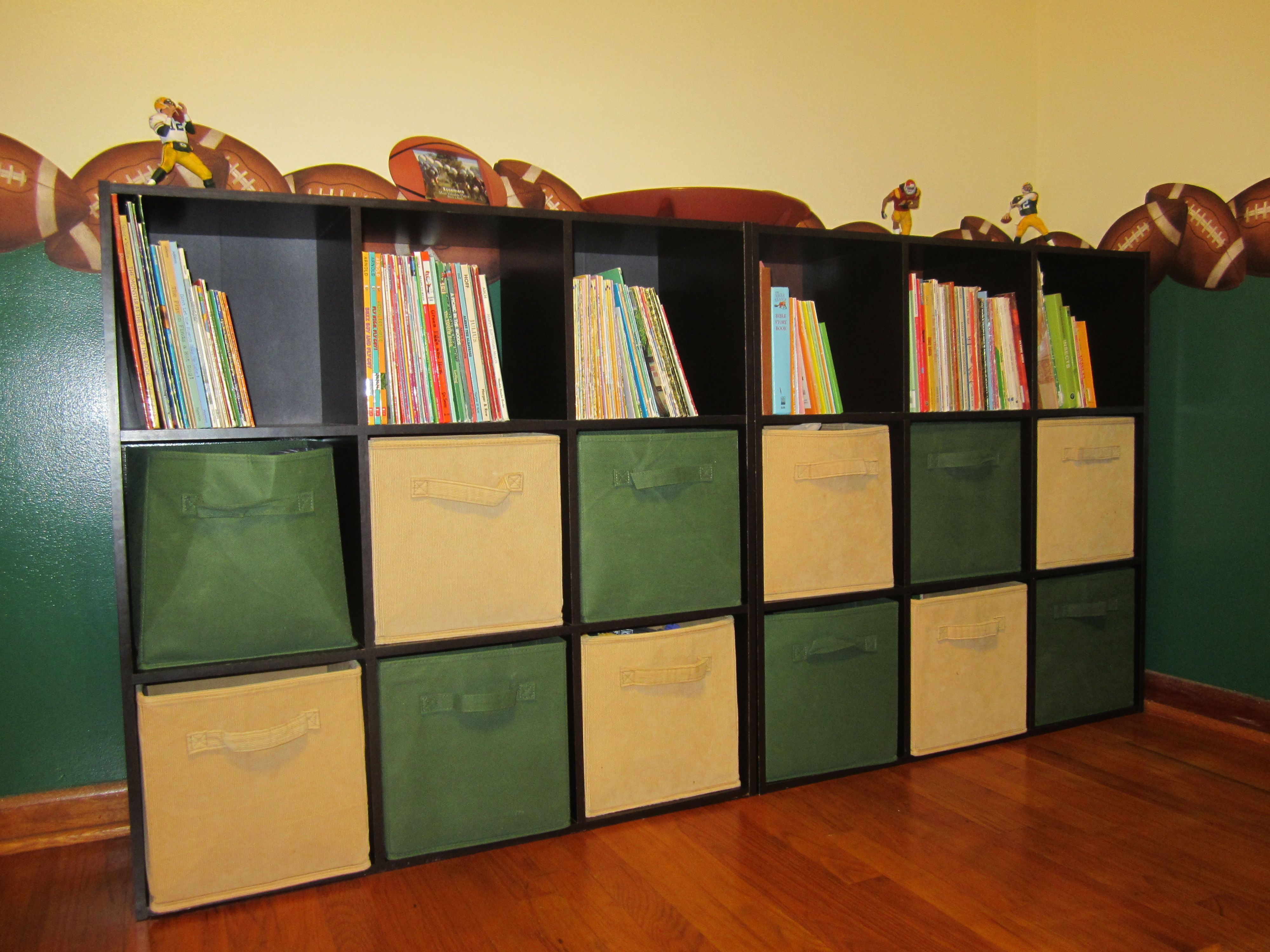 Plenty of storage for toys and books.