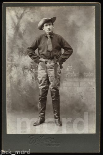 Great Antique 19thC Photo of An Armed Scout Rough Rider with Knife Gun | eBay