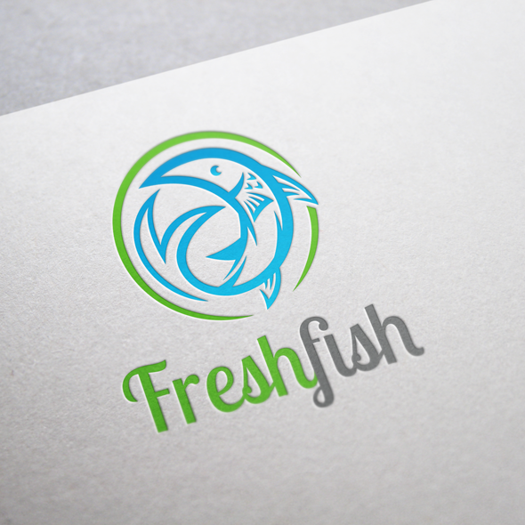 amazing logo inspirations fresh fish logo vector template