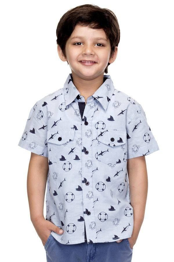 Pose for the shutterbugs in this cool grey shirt! Buy now http://www.oxolloxo.com/catalog/product/view/id/15414/s/boy-grey-cotton-shirt/category/84/