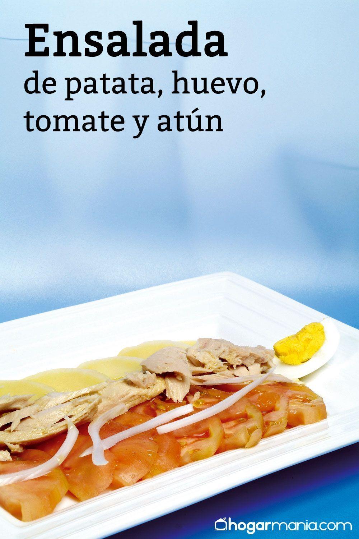 Receta De Ensalada De Patata Huevo Tomate Y Atún Karlos Arguiñano Receta Recetas De Ensalada De Patata Ensalada De Patatas Ensaladas