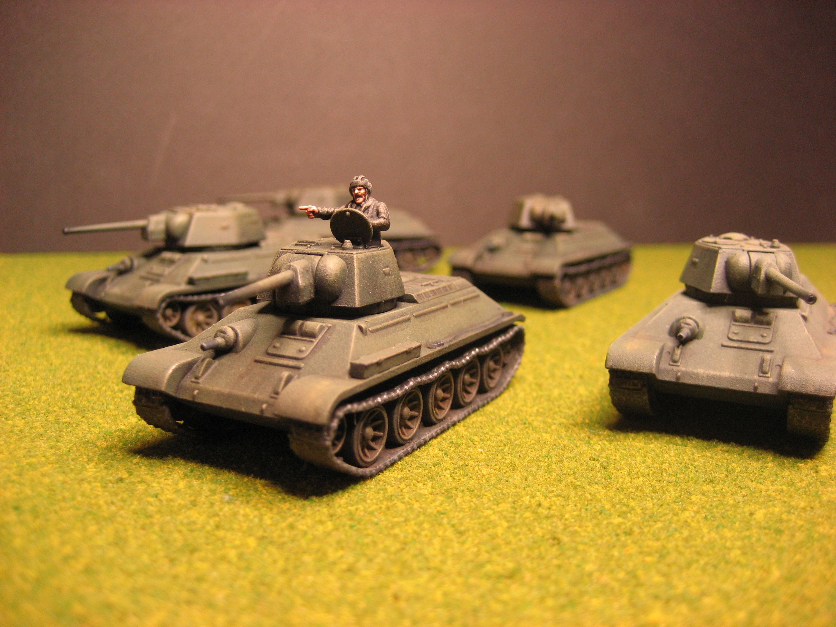 Flames of War, The Russians are Coming!  Russian T-34/76 tanks