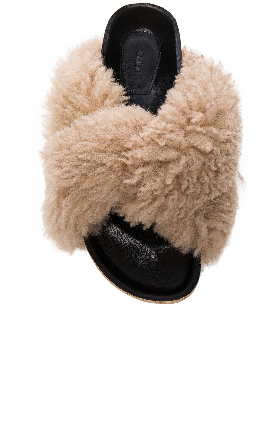 c77ca8020 Image 4 of Chloe Kerenn Shearling Fur Sandals in Fawn | dress it up ...