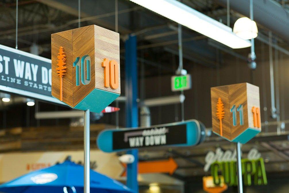 Frisco thread collaborative signage design store
