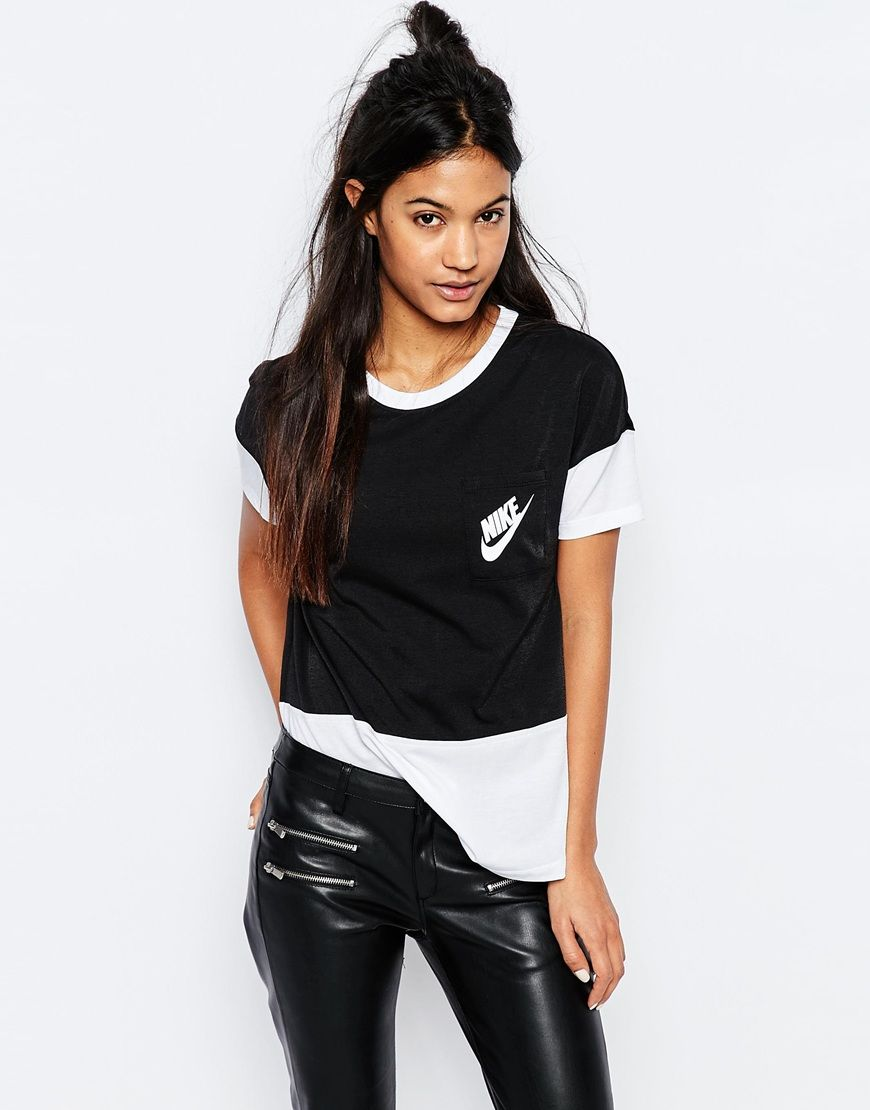 cc800786 Nike+Small+Logo+Oversized+Signal+T-Shirt+With+Colour+Block   Clothes ...