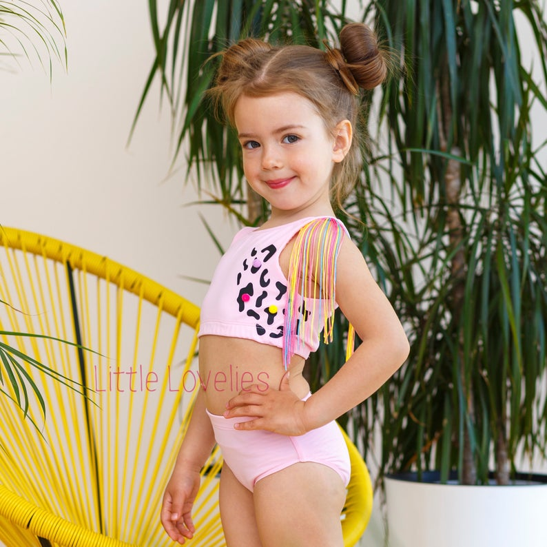 Baby Girls Swimwear One Piece Swimsuits Beach Wear Bathing Suit Bow Dot Bikini Set Swimwear