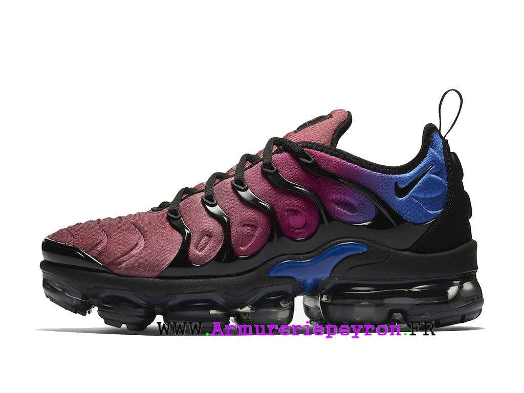 a6790db14556 Chaussures de Basketball Nike Prix Pour Homme Nike Air VaporMax Plus Noir   vin  rouge