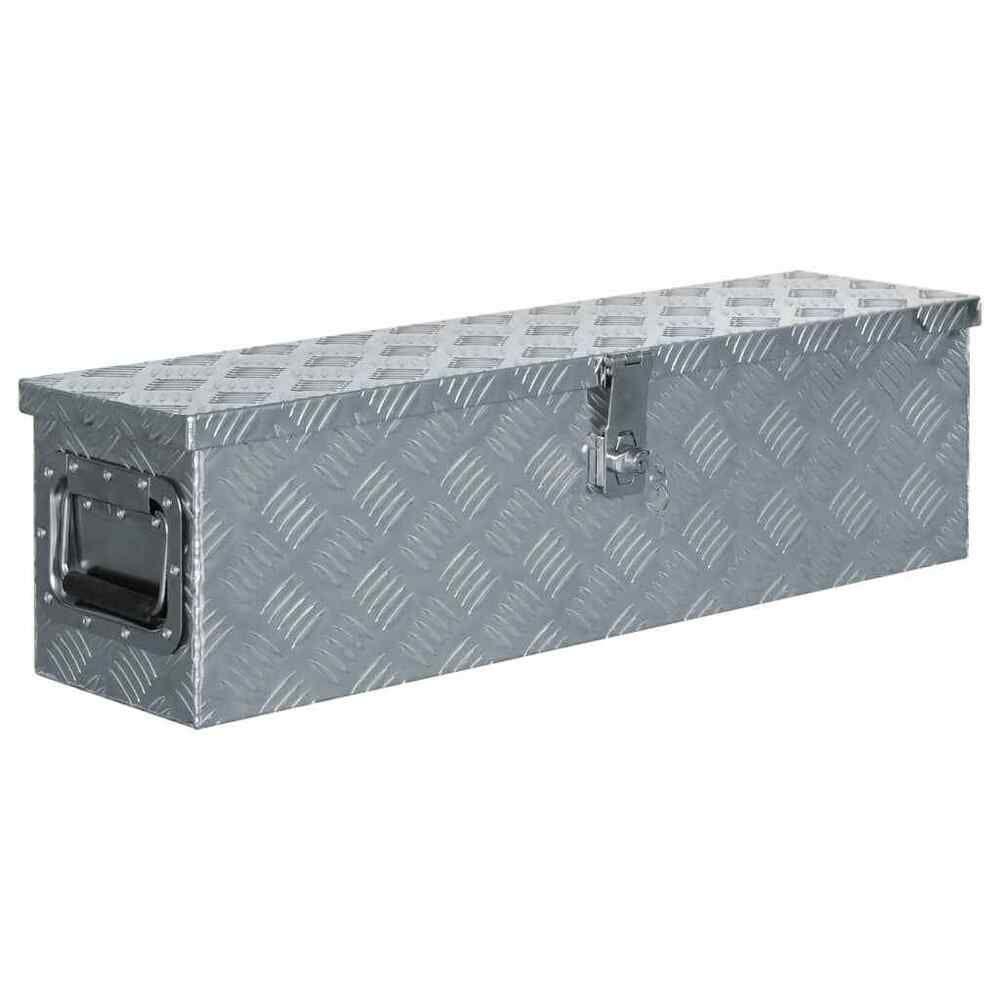 Vidaxl Boite En Aluminium Argente Outils Caisse A Outils Coffre De Rangement Coffre De Rangement Boite Aluminium Rangement