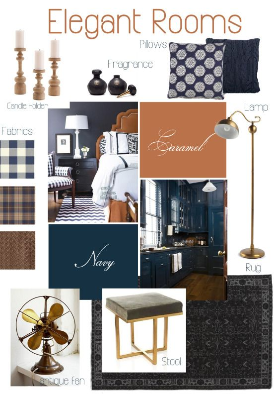 Best Elegant Rooms – Navy Caramel Inspiration Navy Living 400 x 300