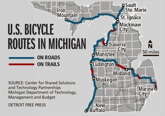 Us bicycle routes in michigan biking routes pinterest bicycling new michigan bike route on us 2 sciox Image collections