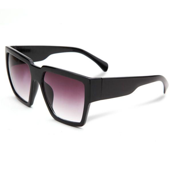 UV400 Women Men Square Big Frame Sunglasses Full Frame Mirror ...