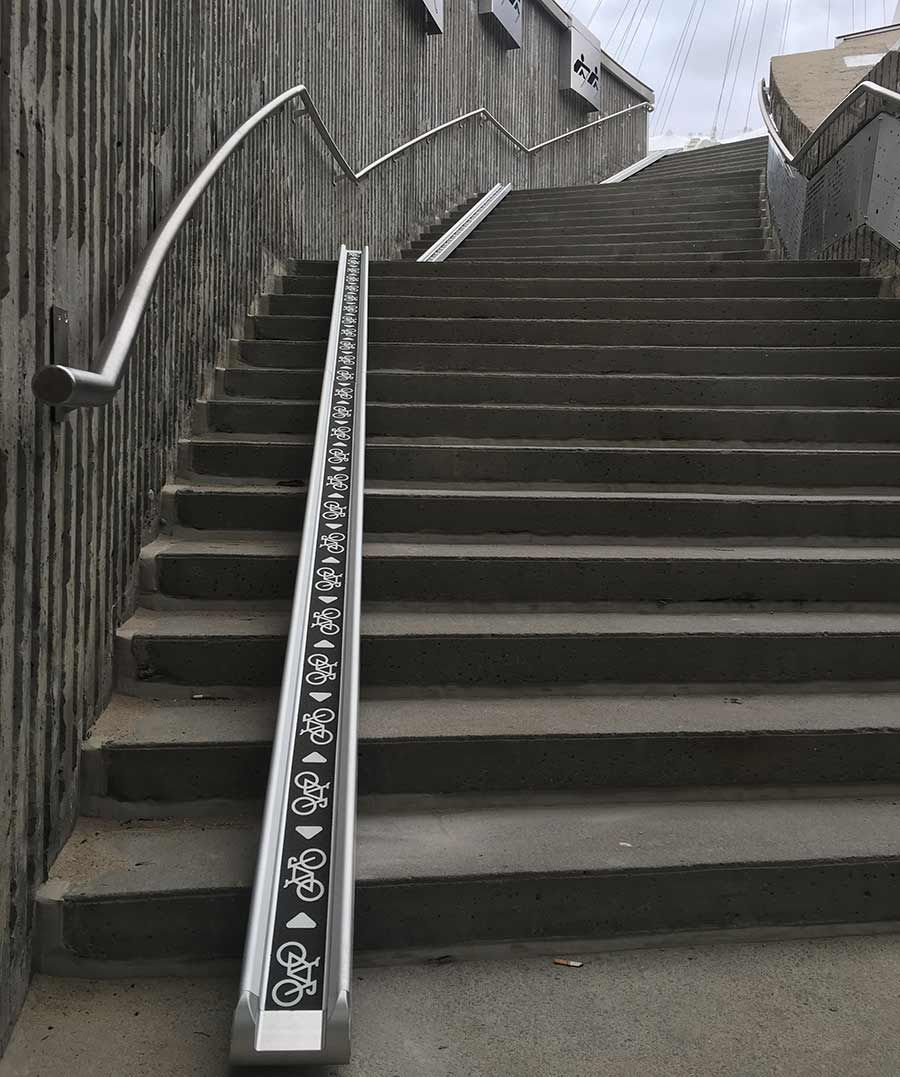Bicycle Stair Access Ramp Bike Fixation Access Ramp Stairs