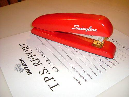 Red Swingline Stapler From Office Space Red Swingline Stapler