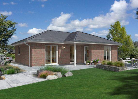Massivhaus Bungalow mit Klinker Fassade & Walmdach, 4