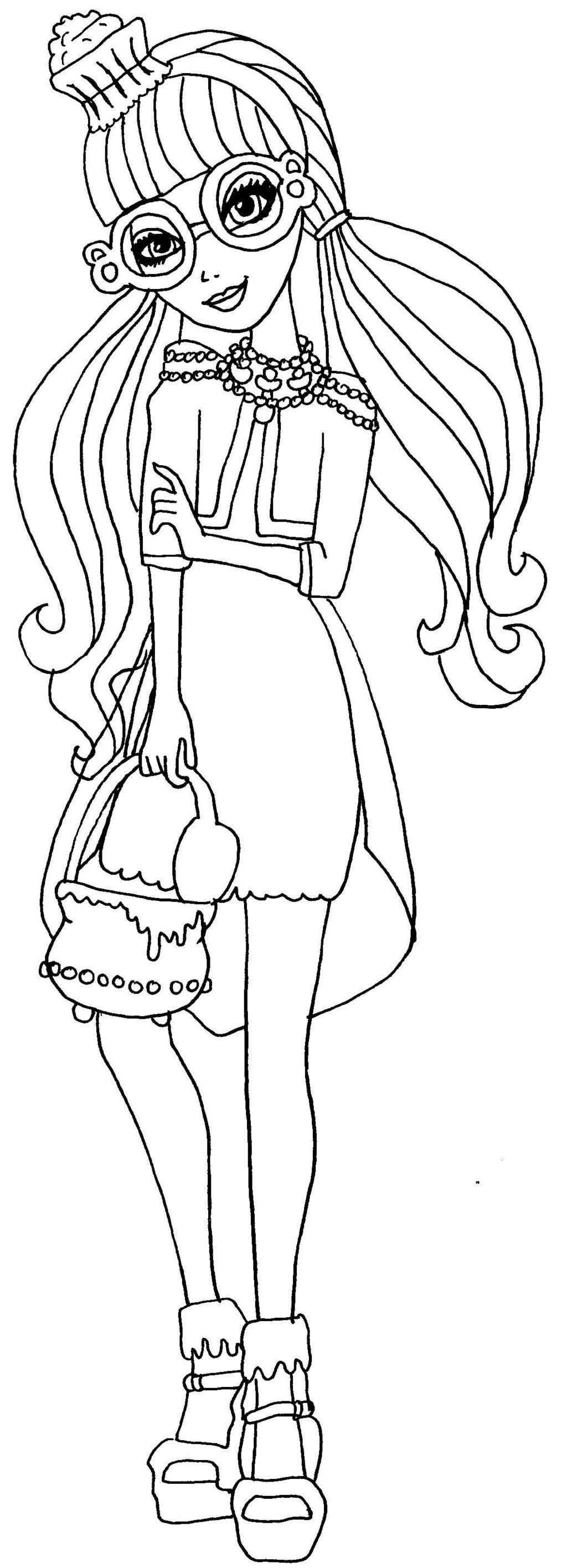 Awesome Monster High Coloring Pages Cupid Coloring Page