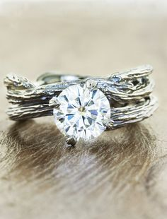 Laurel Engagements Ring and Unique wedding rings