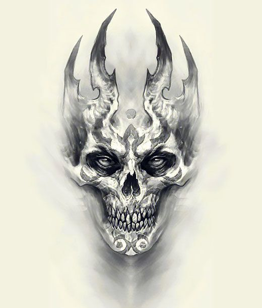 Scary Tattoo Design Scary Tattoos Skulls Drawing Weird Tattoos