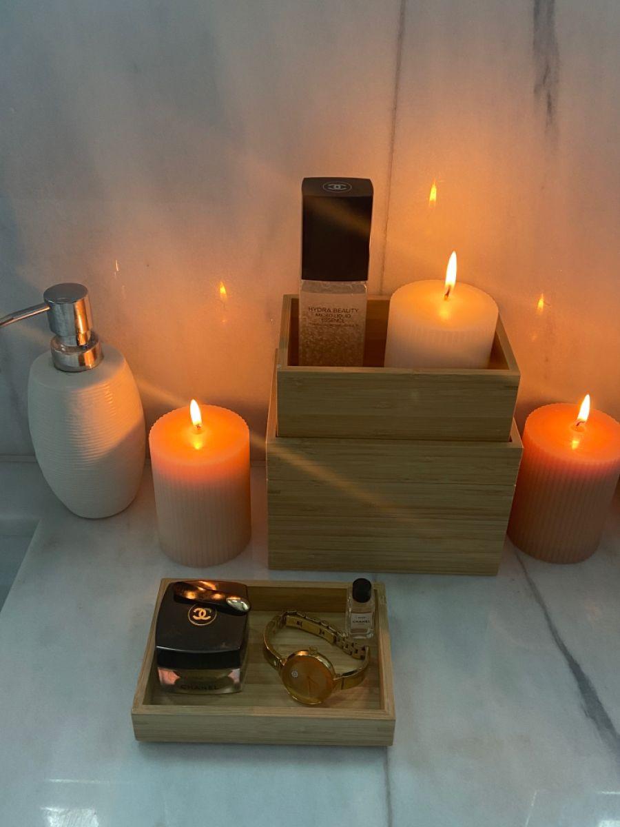 Bathroom setup in 2020   Romantic bathrooms, Tea lights ...
