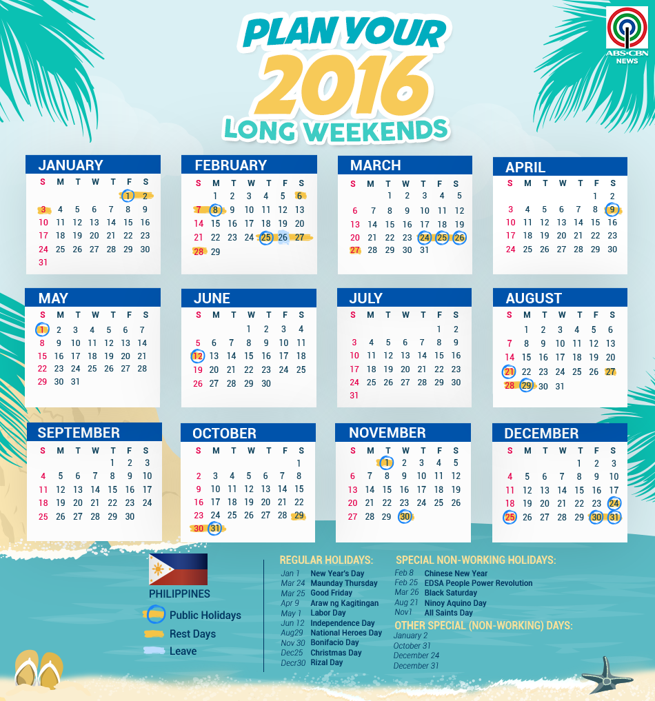Plan your 2016 long weekends (With images) World