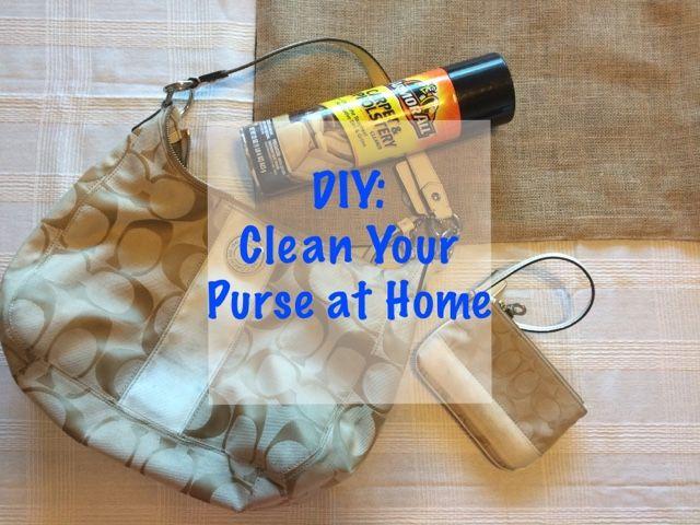 DIY clean your designer purse