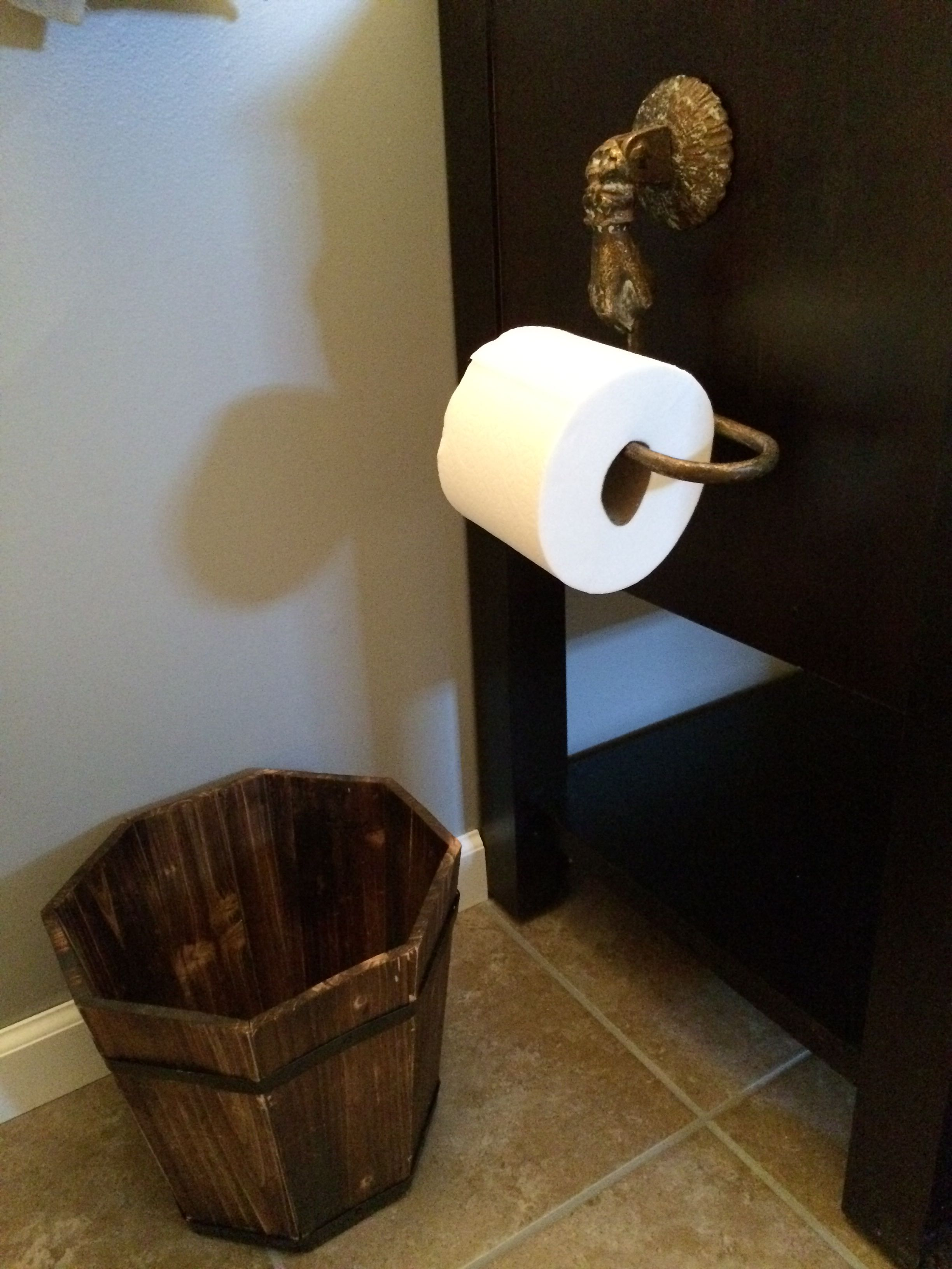 Details To A Pirate Themed Bathroom. Found Toilet Paper Holder For $11.00  On Amazon,