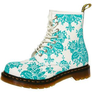 White doc martens with aqua floral print shoe heaven pinterest white doc martens with aqua floral print mightylinksfo