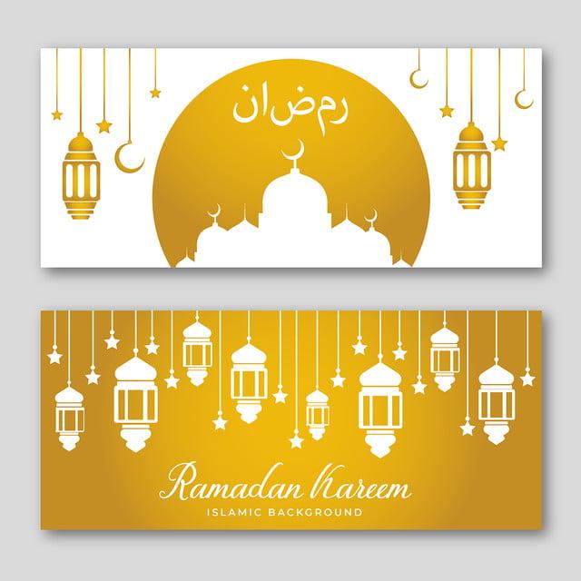 Golden Ramadan Kareem Banner Template In 2021 Ramadan Kareem Banner Template Ramadan