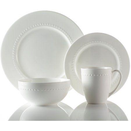 Roscher 32-Piece Hobnail Bone China Dinnerware. Microwave and Dishwasher Safe High Quality Dinnerware - Walmart.com  sc 1 st  Pinterest & Roscher 32-Piece Hobnail Bone China Dinnerware. Microwave and ...