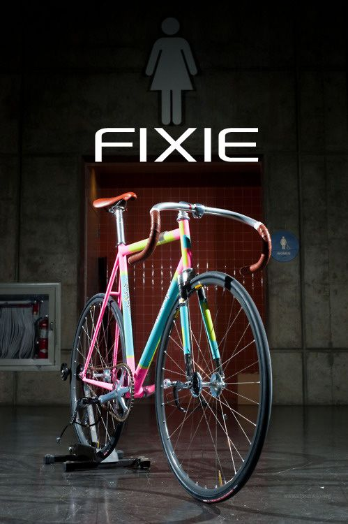 Colorfuuuul Fixie One For The Girls Cycling Bici Ciclismo