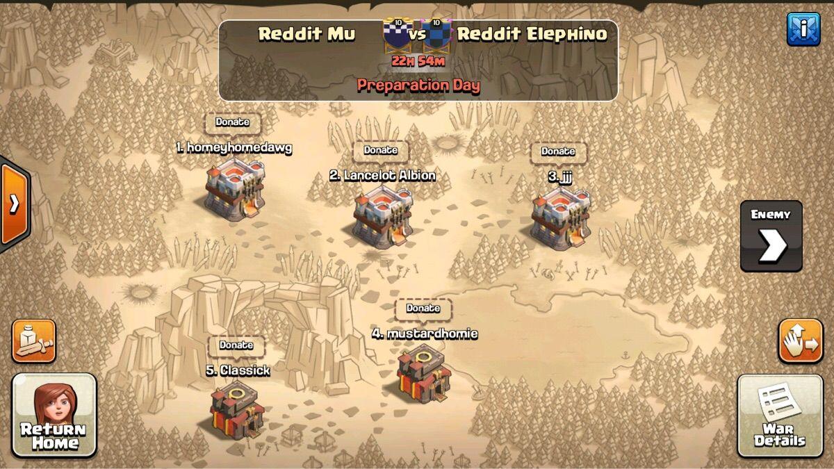 War Random Reddit Match Up Good Luck Elephino Gamc 360 Clash Of Clans Clash Of Clans Gems Clash Royale Deck