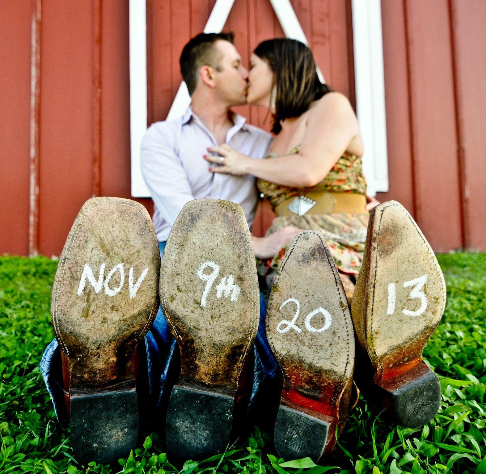 Cowgirl Wedding Ideas: Save The Date Wedding Invitation Card Idea. Writing Your