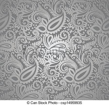 Image Result For Gray Paisley Wallpaper