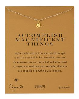 Y21MJ Dogeared Gold-Dipped Accomplish Magnificent Things Necklace