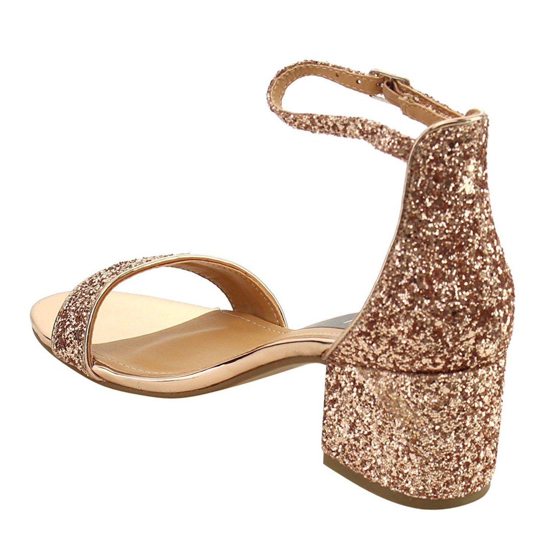 bddb59bfbd3 Beston FH76 Women Single Band Ankle Strap Chunky Heel Dress Sandal Half  Size Big